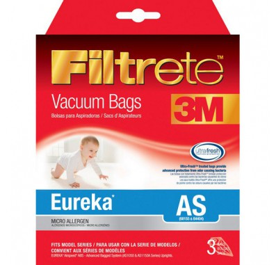 Filtrete 67727 Eureka AS Vacuum Bags (3-Pack)