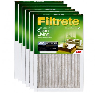 14x30x1 3M Filtrete Dust and Pollen Filter (6-Pack)
