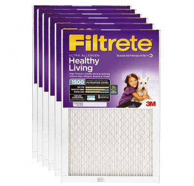 22x22x1 3M Filtrete Ultra Allergen Filter (6-Pack)