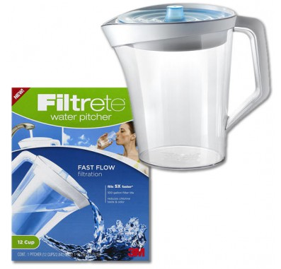 3M Filtrete WP01-WH-12 Water Filtration Pitcher (12 cup)