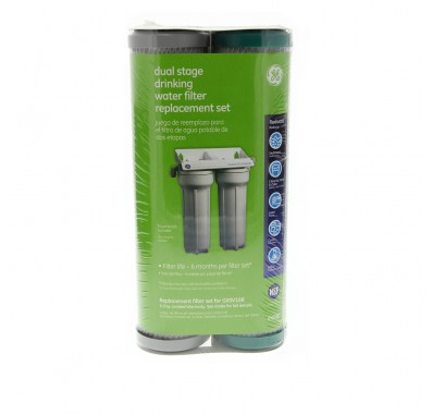 GE FXSVC Under Sink Sediment & Drinking Water Filter Set