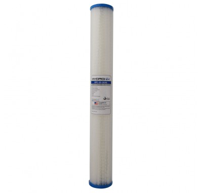 Hydronix SPC-25-2030 20-inch x 2.5-inch Pleated Sediment Water Filter 30 Micron