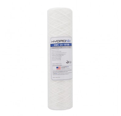 Hydronix SWC-25-10100 String Wound Sediment Water Filter (100 micron)