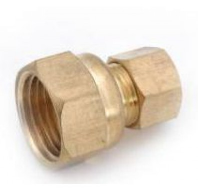 FQ2564B - 3/8-Inch Tube x 1/4-Inch Flare Female Adapter Brass Quick Connect Fitting