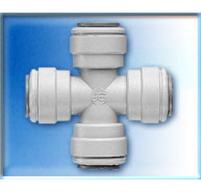 John Guest PI4712S 3/8 Tube Cross Quick Connect Fitting