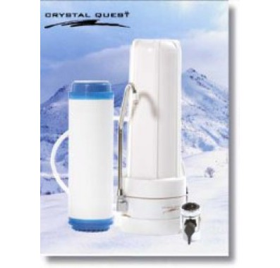 Crystal Quest Countertop Replaceable Single Multi ULTIMATE Filter System
