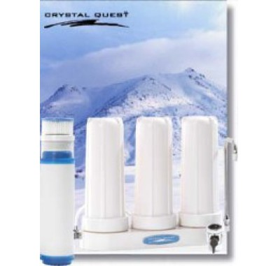 Crystal Quest Countertop Replaceable Triple Multi ULTRA Water Filter System