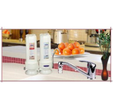 Crystal Quest Countertop Replaceable Double Arsenic PLUS Water Filter System