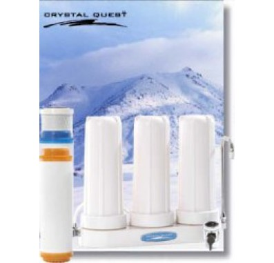 Crystal Quest Countertop Replaceable Triple Nitrate Water PLUS Filter System