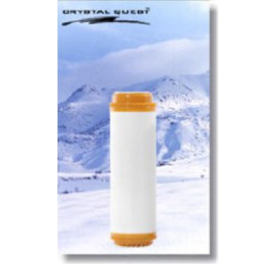 Crystal Quest 2-7/8 in x 9-3/4 in Calcite & Coconut Shell GAC Filter Cartridge