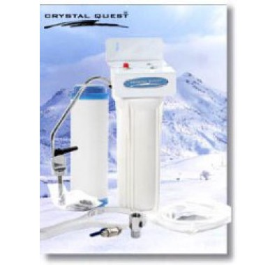 Crystal Quest Undersink Replaceable Single PLUS Water Filter System