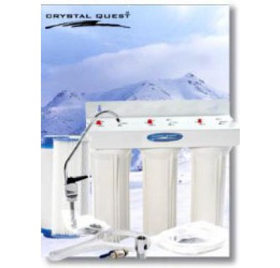 Crystal Quest Undersink Replaceable Triple Multi PLUS Water Filter System