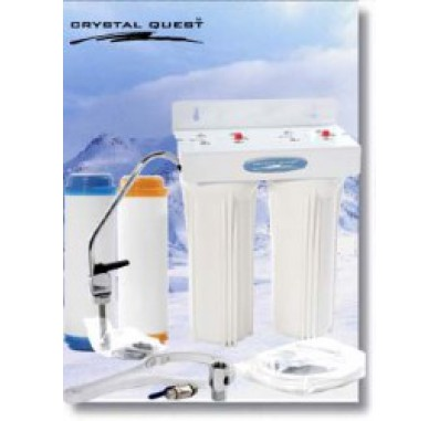 Crystal Quest Undersink Replaceable Double Nitrate PLUS Water Filter System