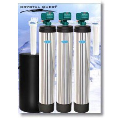 Crystal Quest Whole House Multi/Softener/Fluoride 1.5 Water Filter System