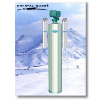 Crystal Quest Whole House Manganese,Iron,Hydrogen Sulfide 1.5 Water Filter System (Stainless Steel)