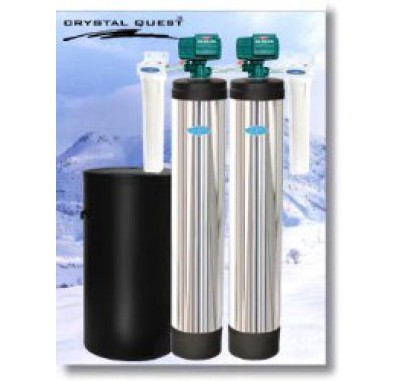 Crystal Quest Whole House Softener/Manganese, Iron, Hydrogen Sulfide 2.0 Water Filter System