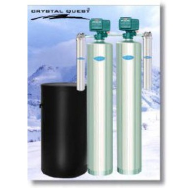 Crystal Quest Whole House Softener/Manganese, Iron, Hydrogen Sulfide 1.5 Water Filter System (Stainless Steel)