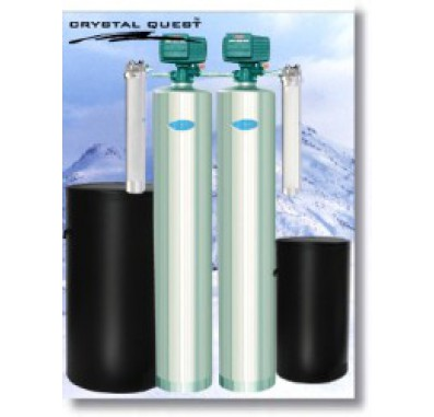 Crystal Quest Whole House Softener/Iron, Hydrogen Sulfide 1.5 Water Filter System (Stainless Steel)