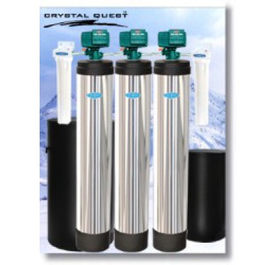 Crystal Quest Whole House Multi/Softener/Iron, Hydrogen Sulfide 1.5 Water Filter System