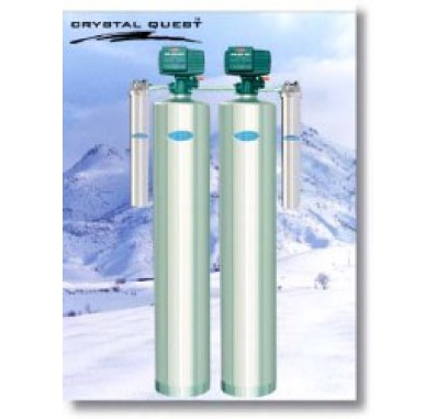 Crystal Quest Whole House Multi/Acid Neutralizing 1.5 Water Filter System (Stainless Steel)
