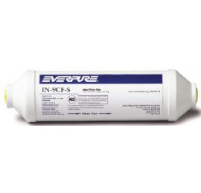 Everpure IN-9CF-S EV9100-75 5 Micron Carbon Block Inline Filter