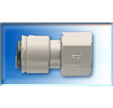 FQFC64 - 3/8-Inch Tube QC x 1/4-Inch Female Thread Quick Connect Fitting