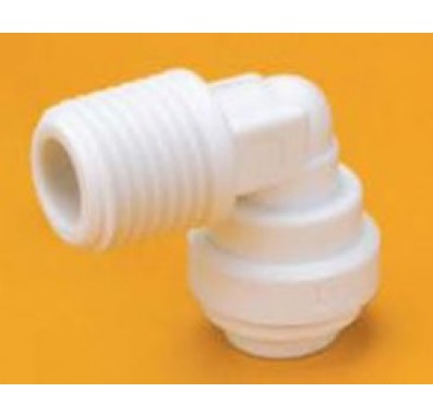 3/8-Inch Tube x 3/8-Inch Male NPT Fixed Elbow Quick Connect Fitting