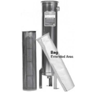 Harmsco BCB-1-1.5-EXT 304SS Extended Area Bag Filter Housing