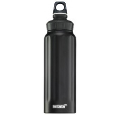 SIGG Wide Mouth Black Bottle 1.0L
