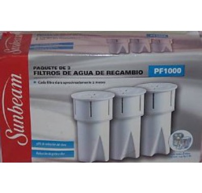Sunbeam PF1000 Water Pitcher Replacement Filters
