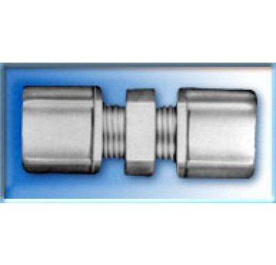 FCUC1586 - 1/2-Inch Tube x 3/8-Inch Tube Union Connector w/ 1/2-Inch & 3/8-Inch Compression Nuts