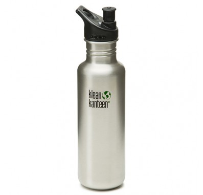 K27PPS Klean Kanteen 27oz Stainless Steel Water Bottle with Sport-Top