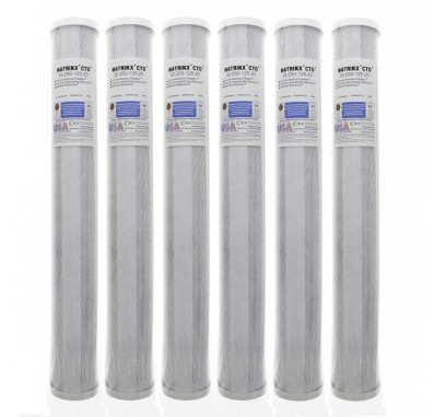 KX Matrikx +CTO/2 32-250-125-20 Carbon Block Water Filter (6-Pack)