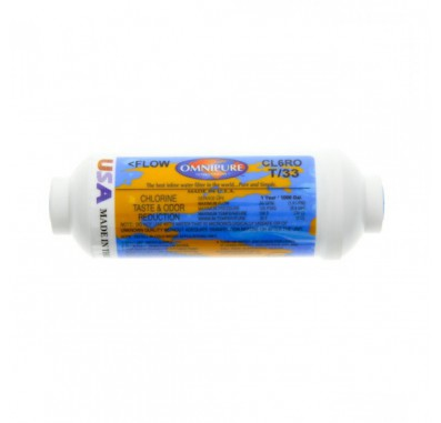 CL6ROT33-A GAC Inline Water Filter by Omnipure
