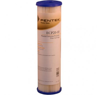 Pentek ECP20-10 Pleated Sediment Water Filters (9-3/4-inch x 2-5/8-inch)