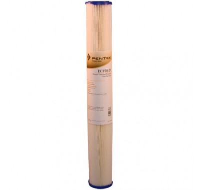 Pentek ECP20-20 Pleated Sediment Water Filters (20-inch x 2-5/8-inch)