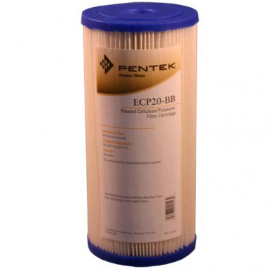Pentek ECP20-BB Pleated Sediment Water Filters (9-3/4-inch x 4-1/2-inch)