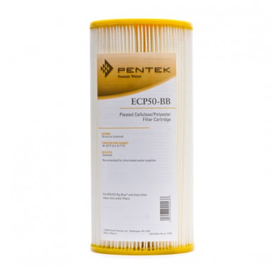 Pentek ECP50-BB Pleated Sediment Water Filter (Sold Individually)