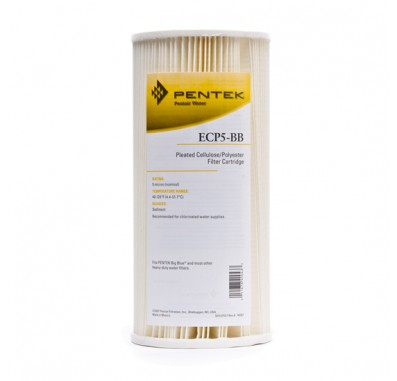 Pentek ECP5-BB Pleated Sediment Water Filters (9-3/4-inch x 4-1/2-inch)