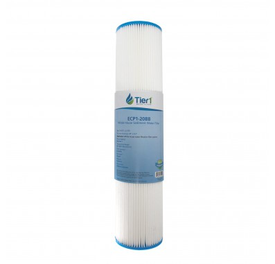 Pentek ECP1-20BB Comparable Pleated Sediment Water Filter by Tier1