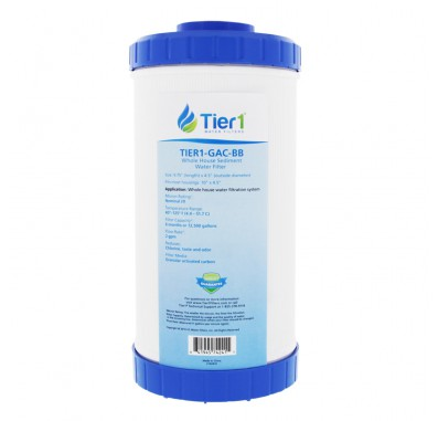 10 X 4.5 Granular Activated Carbon Replacement Filter (Label and Front View)