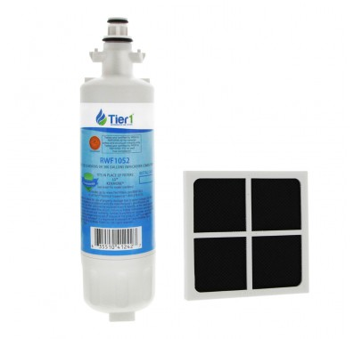 Tier1 LG LT700P Comparable Refrigerator Water Filter and LG LT120F Fresh Air Filter
