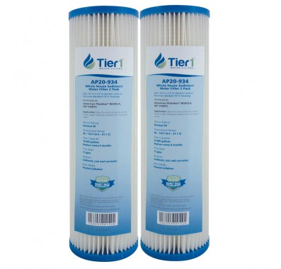 10 X 2.5 Pleated Cellulose Replacement Filter by Tier1 (20 micron) (2-Pack)