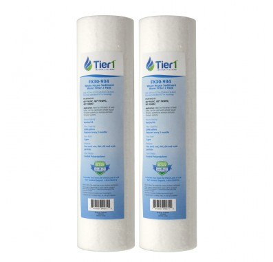 GE FXUSC Comparable Whole House Sediment Water Filter 2-Pack by Tier1