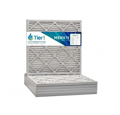 Tier1 12 x 12 x 1  MERV 11 - 6 Pack Air Filters (P15S-611212)