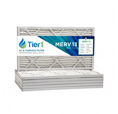 Tier1 16-3/8 x 21-1/2 x 1  MERV 13 - 6 Pack Air Filters (P25S-6116F21H)