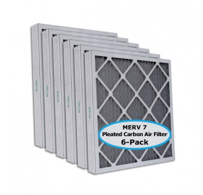 Tier1 12-1/2 x 24-1/2 x 2  MERV 8 Carbon - 6 Pack Air Filters (P75S-6212H24H)