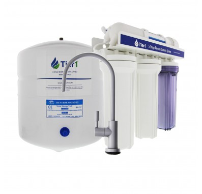 Tier1 5-Stage Reverse Osmosis System with Brushed Nickel Faucet