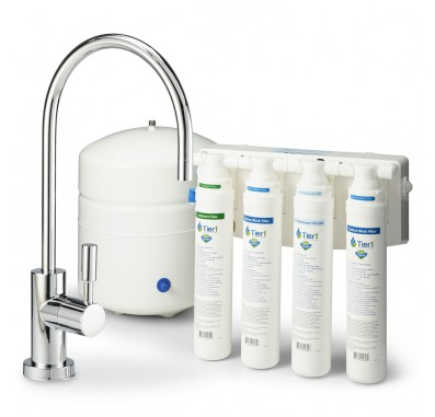 RO-QC-4-50 4-Stage Quick Change Reverse Osmosis Water Filter System by Tier1