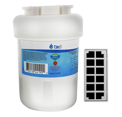GE MWF Comparable Refrigerator Water Filter with GE Cafe Series Comparable Odor Filter Combo by Tier1